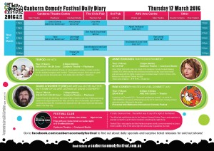 CanberraComedyFestival-DailyDiary-Thursday
